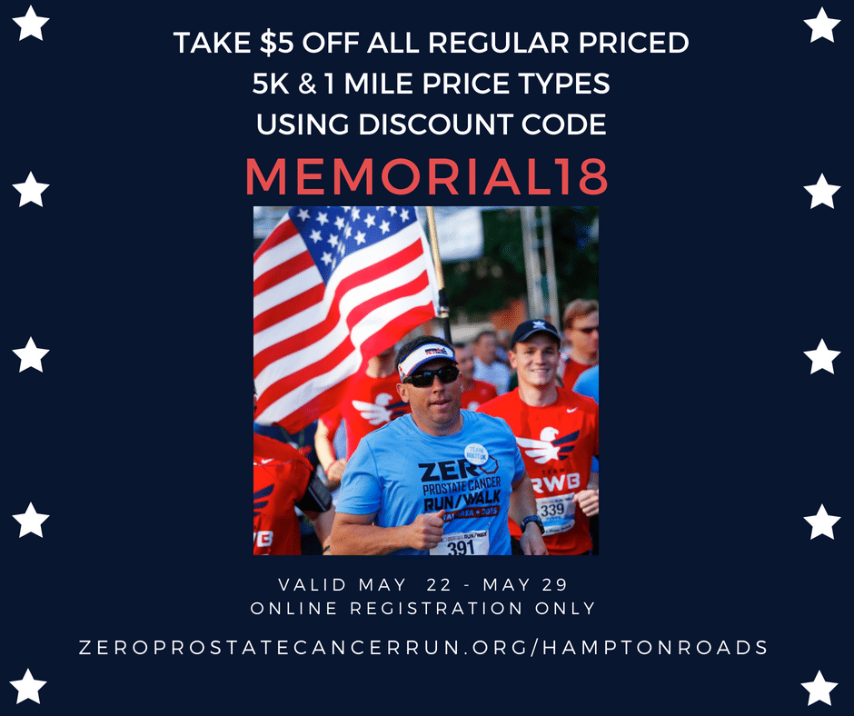 Discount for ZERO Walk/Run Registration this Week Only!