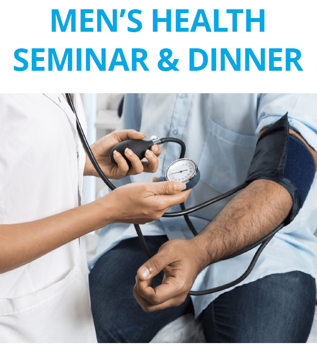 Men's Health Seminar and Dinner, September 27th