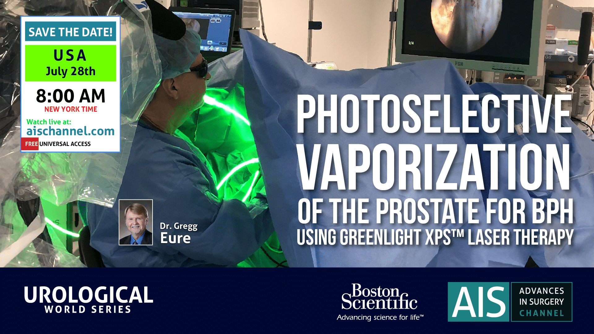 Photoselective Vaporization of the Prostate for BPH procedure by Dr. Gregg Eure